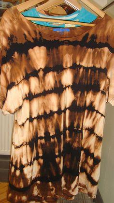 Black Bleach Tie Dye. For my old, plain black skirt.