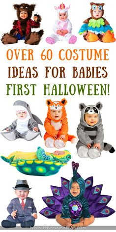 Over 60 Costume Ideas for Baby's First Halloween by PNWMamaBear.com You'll want to remember your Lil Punkin's first Halloween, no matter what they dress up in. Here you will find over 60 fun, cute and creative Costumes for Baby's First Halloween! All options listed are available for FREE two day shipping from Amazon! Not a prime member? Ask me how you can try it for FREE for 30 days!
