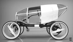 Velomobile with pneumatic shell by Rashid Tagirov at Coroflot.com