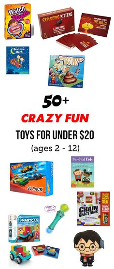 MPMK Gift Guide: Top Toys Under $20 - You don't have to spend a fortune for high-quality and engaging toys your kids will love! Quiet Time Activities, Creative Activities For Kids, Summer Activities, Family Activities, Indoor Activities, Top Toys, Boy Birthday, Birthday Parties, Baby Play