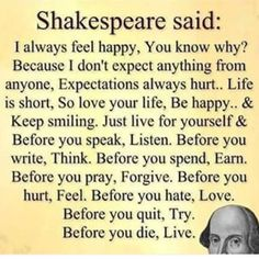 Best Inspirational Quotes About Life QUOTATION - Image : Quotes Of the day - Life Quote  Shakespeare quote about life Sharing is Caring - Keep Best Inspirational Quotes, Inspiring Quotes About Life, Motivational Quotes, Inspiring Messages, Uplifting Quotes, The Words, Shakespeare Quotes Life, William Shakespeare, Sayings