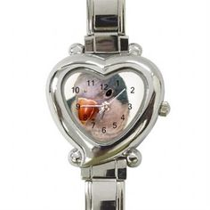 Parrot Watch - Blue Quaker Parrot Heart Watch