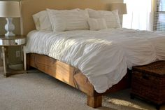 DIY Bed Frame. This will save me so much time and heartache.