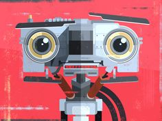 Happy 2015 everyone! We're back with #63 of the 100 portrait pop culture series. Johnny Five is Alive!