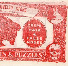 5pcs 50s Vintage MAGIC STORE MONEY Skull by cOveTableCuriOsitiEs, $3.95