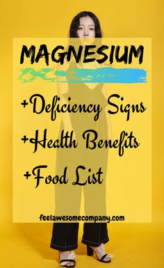Magnesium is a wonderful mineral that helps us stay young, healthy and strong. A magnesium deficiency in your body can make you age faster! Magnesium Foods, Magnesium Benefits, Magnesium Deficiency, Health Benefits, Brain Nutrition, Health And Nutrition, Health Tips, Health And Wellness, Health And Fitness Articles
