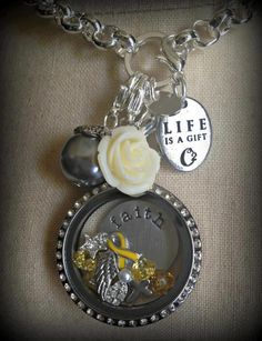 origami owl living locket yellow ribbon wwwkrissmith