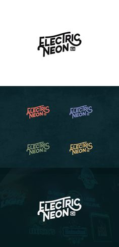 Retro typography by danhood for a neon sign company. #logo #design