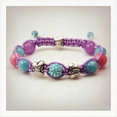 Spring spirit Shamballa style bracelet  by DonaQuichotteJewels, $48.00