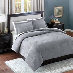 Better Homes and Gardens Microsuede 3-piece Comforter Set
