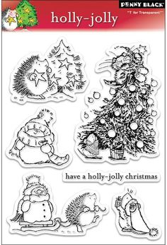 Holly Jolly Christmas - Clear Stamps #123stitch #stamps