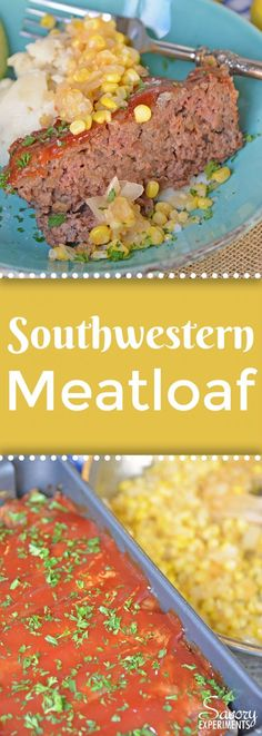 Southwestern Meatloaf is a classic meatloaf recipe with a southwestern spin. Crushed tortilla chips and bottled salsa give this easy meatloaf a zesty edge. #meatloafrecipe #ad www.savoryexperiments.com
