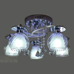 $53.02 LED Crystal Ceiling living room, bedroom lamps restaurant dining room den Lighting -ZZKKO