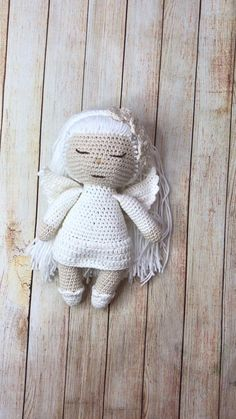 Handmade Angels, Handmade Soft Toys, Handmade Ideas, Handmade Decorations, Etsy Handmade, Crochet Bear Patterns, Crochet Baby Toys, Knitted Dolls, Felt Toys