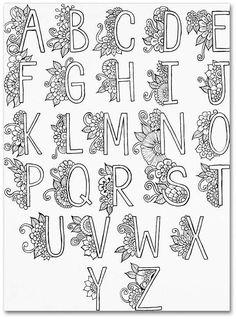 doodle art letters ~ doodle art & doodle art journals & doodle art for beginners & doodle art drawing & doodle art easy & doodle art creative & doodle art patterns & doodle art letters Hand Lettering Alphabet, Doodle Lettering, Calligraphy Alphabet, Pretty Fonts Alphabet, Decorative Alphabet Letters, Decorative Lettering, Letter Fonts, Doodle Fonts, Lettering Tattoo
