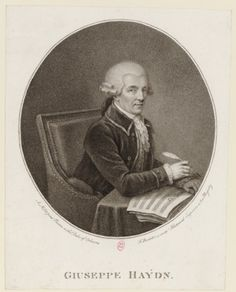 Joseph Haydn (1832-1809), engraving (1791), by Francesco Bartolozzi (1727-1815).
