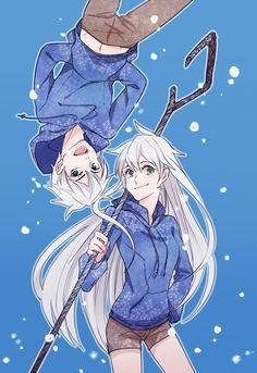 rise of the guardians, jack frost, genderbend rule 63 Jack Frost Und Elsa, Jake Frost, Jack And Elsa, Disney Kunst, Arte Disney, Disney Art, Animes Yandere, Fanarts Anime, Manga Anime