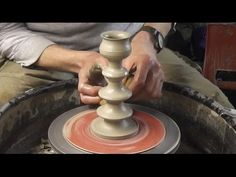 ▶ Throwing / Making a Pottery Candlestick on the wheel - YouTube