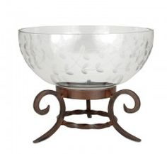 A30717 Etched Glass Bowl on Stand