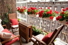Red apartment Balcony - by Lilia