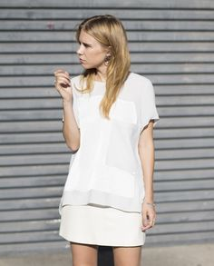 LNA white leather mini on ALWAYSJUDGING