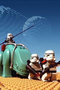Legos, Star Wars, Stormtroopers.