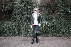 ZOE KARSSEN Sweater & Jeans  http://www.rockinitems.com/zoe-karssen IBANA Leather Jacket http://www.rockinitems.com/IBANA-BLACK-LEATHER-JACKET-BURRO