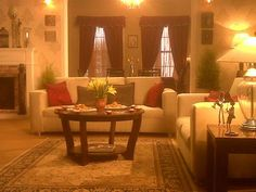 Indian Living Room, Warm, Styled by Niyoti