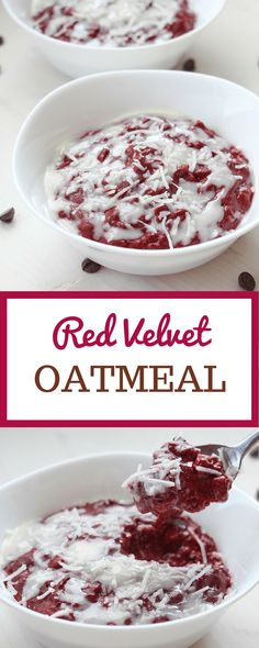 Red Velvet Oatmeal | flatland fresh food | tastes exactly like your favourite dessert but for breakfast! Perfect for Valentine's Day