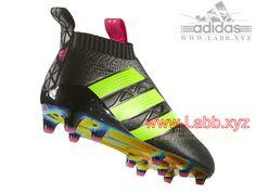 Adidas Football Homme Chaussure ACE 16+ PURECONTROL terrain Shock Pink Solar Green souple AQ2669