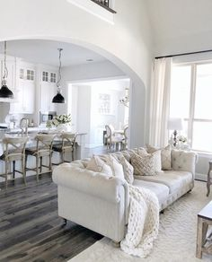 42 ideas farmhouse living room grey decorating ideas for 2019 Living Room Flooring, Living Room Sofa, Home Living Room, Interior Design Living Room, Living Room Designs, Living Room Decor, Living Room White, White Rooms, Home Theaters