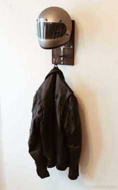Handmade Motorcycle Helmet Rack & Jacket Hook