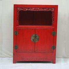 Petit meuble chinois laqu rouge d tail 11 d co hivers pinterest rouge - Meuble asiatique rouge ...