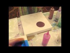"Pouring Medium - 'A fun and easy approach to using Liquitex's pouring medium to create, fluid abstract effects. Michele will be teaching a workshop in the San Francisco Bay Area on this technique and many more called ""Pour, puddle, drip. Lift, peel, cut: Crazy Things That You Can Only Do with Acrylic Paint."" https://www.youtube.com/watch?v=jHyWfZR2VK0"