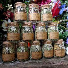 Set de frascos de hierbas de la bruja hierbas por ThePotionLady