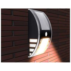 LE Solar Powered LED Motion Sensor Light,Wireless Night Light,Wall Light,Security for Door,Garden - Rakuten.com