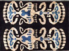 Double Ikat Silk Velvet Pillow on Chairish.com