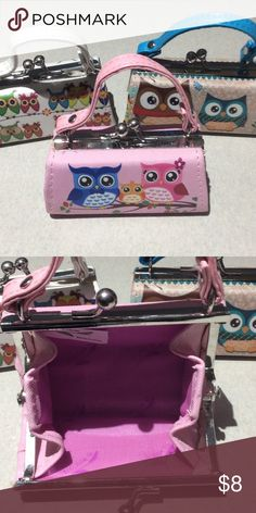 """Coin Purse/Lipstick Case I feel in love with these cuties. They can be a coin purse 👛 or lip stick case 💄or a first purse for your daughter or grand daughter. They are 4"""" across and 2"""" up plus another 2"""" for the handle Bags"""