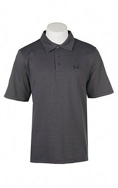161dea98 Cinch Men's ArenaFlex Solid Dark Grey Short Sleeve Polo Shirt | Cavender's  #mensapparel Cinch Clothing