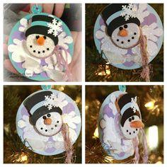 Lezlye Lauterbach, Designs: Tealight Snowman Ornament