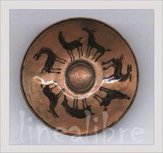 técnica: Pigmento bajo cubierta - esmaltado a fuego sobre cobre (hugo ostermann)