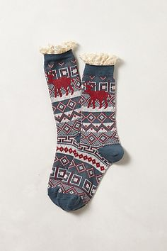 Ruffled Camp Socks from Anthro - these would be perfect with Bean Boots! .... Maybe I should buy them for myself...