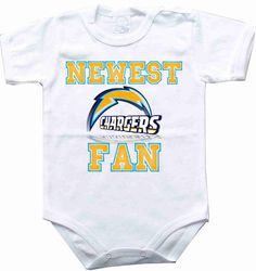 Baby bodysuit Newest fan San Diego Chargers by rockbabysuit