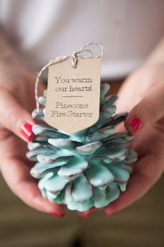 how to make your own Pinecone Fire Starters! Learn how to make your own Pinecone Fire Starters! Great Christmas party favor or gift idea.Learn how to make your own Pinecone Fire Starters! Great Christmas party favor or gift idea. Winter Wedding Favors, Christmas Party Favors, Diy Holiday Gifts, Diy Wedding Favors, Holiday Crafts, Christmas Diy, Xmas, Wedding Gifts, Trendy Wedding