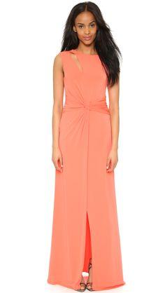 Halston Heritage Jersey Twist Gown
