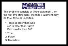 Logical Reasoning  #thechennaischoolofbanking