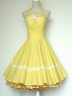 50s yellow polka dot - Google Search