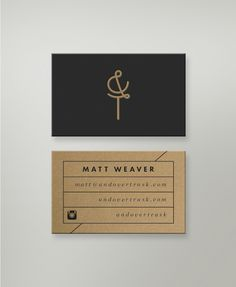 Business Cards by Andover Trask minimal cardboard kraft paper letterpress identity branding stationary graphic design