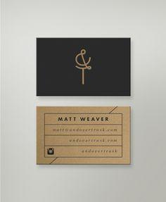 Business Cards by Andover Trask minimal cardboard kraft paper letterpress identity branding stationary graphic design