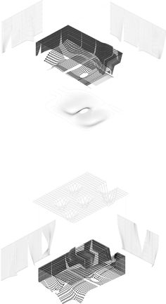Arch_Type' GOOD FOOD project Spring 2016 - CED Berkeley. This is a representative architecture diagram of the GOOD FOOD Project. The concept is to criticize the concept of Broad Museum as the precedence study of this building.